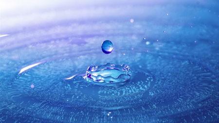 蓝色,抽象的,透明的,水滴,特写镜头百变桌面精选 3840x2160