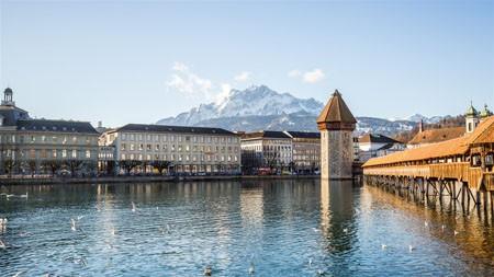 卡贝尔桥,卢塞恩,瑞士,2021年,旅行,高清,摄影高端桌面精选 3840x2160