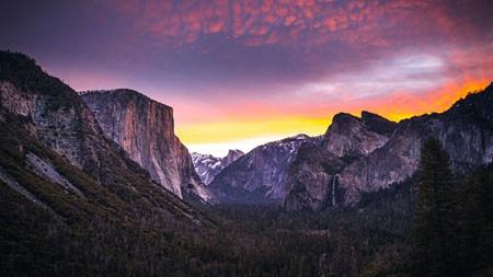 优胜美地国家公园,日落,2022,自然,风景,照片高端桌面精选 3840x2160