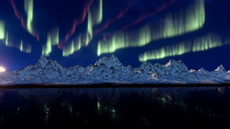 冰山,日出,多彩,极光,4K,超高清高端桌面精选 3840x2160
