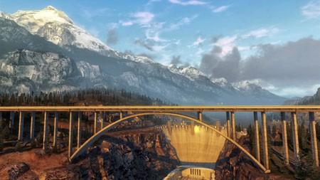 壮观,峡谷,水坝,桥梁,日落,4K,超高清,照片高端桌面精选 3840x2160