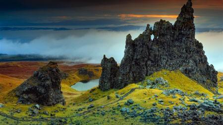苏格兰,峭壁,户外,自然,景观高端桌面精选 3840x2160