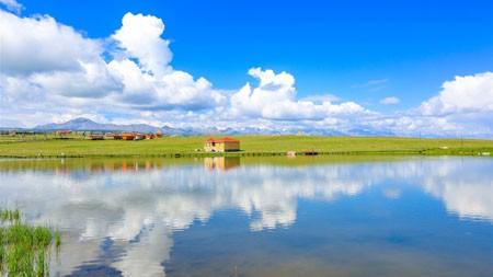中国,旅游,美丽,草原,湖泊,蓝天高端桌面精选 3840x2160