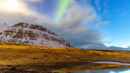 北极光,基尔库费尔,冰岛,2021年,风景,5K,照片高端桌面精选 3840x2160