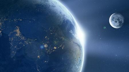 宇宙,月亮,地球,中国,2022,4K,高清高端桌面精选 3840x2160