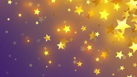 金,明星,紫色,背景,设计,4K,高清高端桌面精选 3840x2160