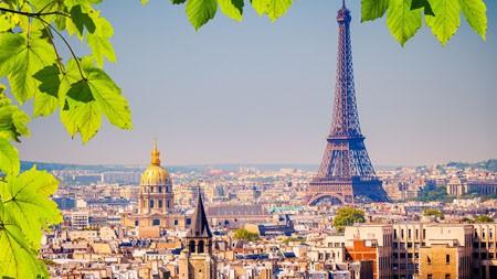 法国,巴黎,埃菲尔铁塔,绿叶高端桌面精选 3840x2160