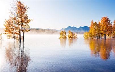 秋天的美丽湖,2021年,景观,5K,照片高端桌面精选 5120x2880