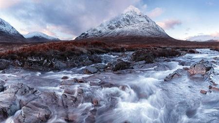 雪,山,冰川,河,景观高端桌面精选 3840x2160