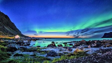 北极光,海岸线,2022,自然,风景,照片高端桌面精选 3840x2160
