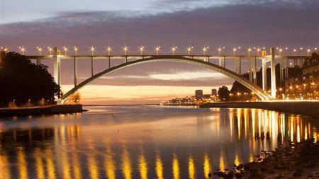 拱形,桥梁,海岸,葡萄牙,河高端桌面精选 3840x2160