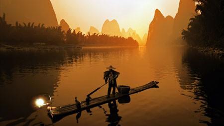 桂林,中国,漓江,渔夫百变桌面精选 3840x2160