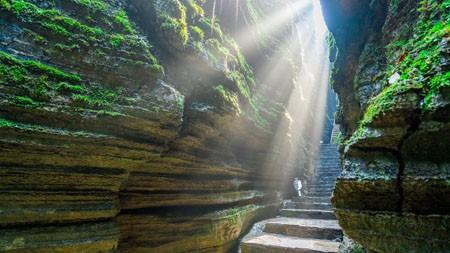 湖北,梭布垭石林,峡谷,阳光高端桌面精选 3840x2160