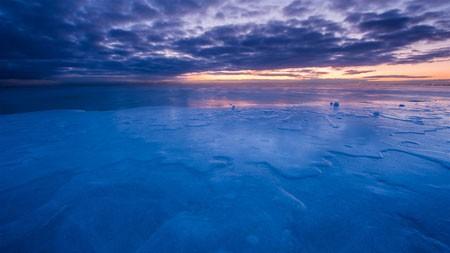 冷,芝加哥,冬天,湖,上午,地平线高端桌面精选 3840x2160