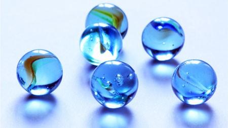 蓝色,水晶,玻璃,弹珠,特写镜头高端桌面精选 3840x2160