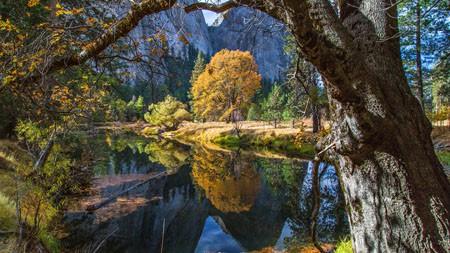 优山美地,森林,秋天,湖,iMac,Retina,4K,超高清高端桌面精选 3840x2160