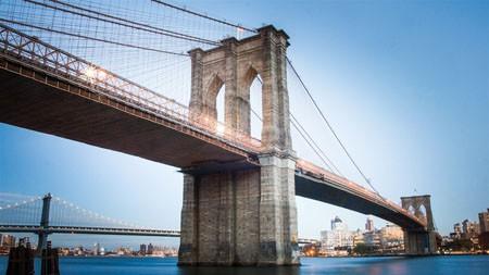 布鲁克林,桥,城市景观,标志性建筑,蓝天高端桌面精选 3840x2160