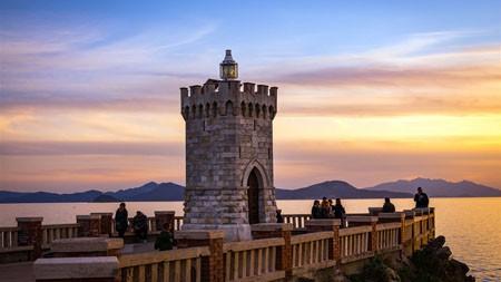 意大利,托斯卡纳,海岸,灯塔,日落,4K高端桌面精选 3840x2160