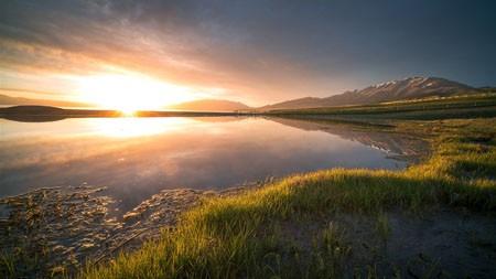 中国,新疆,湿地公园,早晨,日出高端桌面精选 3840x2160
