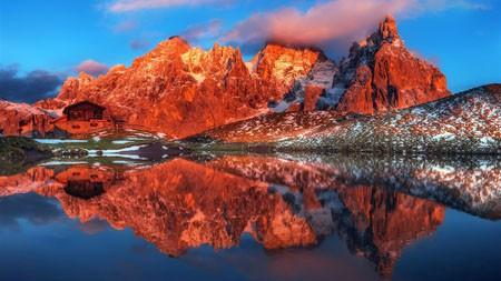 山,湖,房子,HDR,摄影高端桌面精选 3840x2160