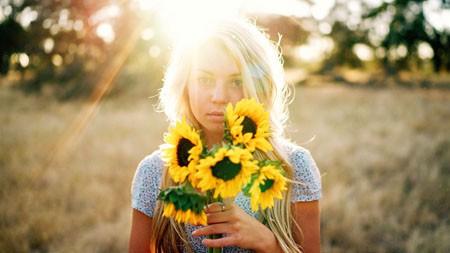 夏天,金发,女孩,向日葵,阳光极品壁纸精选 3840x2160