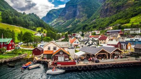 挪威,山麓,活泼,镇,码头高端桌面精选 3840x2160