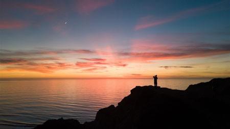 海岸,天空,日落,剪影,4K,高清,照片高端桌面精选 3840x2160