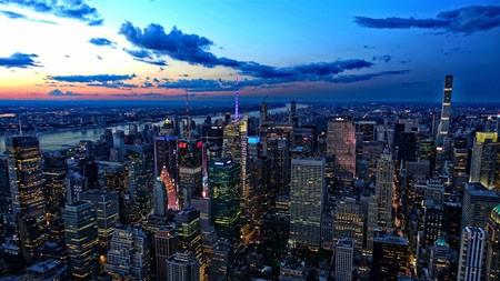 曼哈顿,摩天大楼,黄昏,城市,摄影高端桌面精选 3840x2160