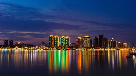 夜,城市,照明,全景,摩天大楼高端桌面精选 3840x2160