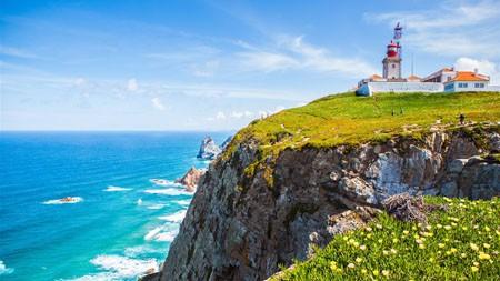 峭壁,灯塔,罗卡角,葡萄牙高端桌面精选 3840x2160
