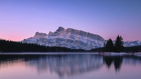 紫色,山,湖,日落,2022,风景,照片高端桌面精选 3840x2160