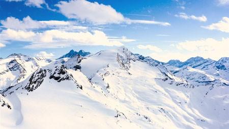 奥地利,冬天,雪山,天空,云高端桌面精选 3840x2160