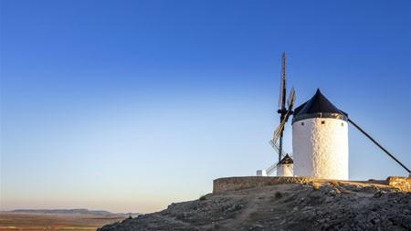 西班牙,唐吉诃德,风车,镇,风景百变桌面精选 3840x2160