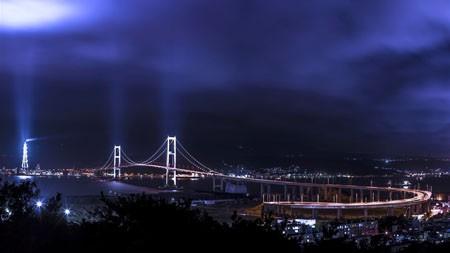 日本,海桥,夜光,天际线,4K,高清高端桌面精选 3840x2160