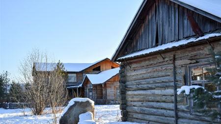 2022年,寒冷,下雪,冬天,木屋,照片高端桌面精选 3840x2160