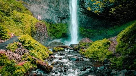 瀑布,溪流,苔藓,森林,景观高端桌面精选 3840x2160