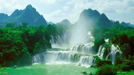 中国,广西,旅游,丛林,瀑布,4K,高清百变桌面精选 3840x2160