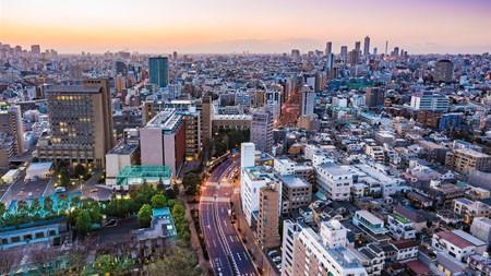 东京,城市,建筑,天际线,黄昏高端桌面精选 3840x2160