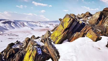 海拔高度,蓝色,天空,冰川,苔藓,石头高端桌面精选 3840x2160