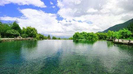 丛林,山,绿色,湖,自然,风景高端桌面精选 3840x2160