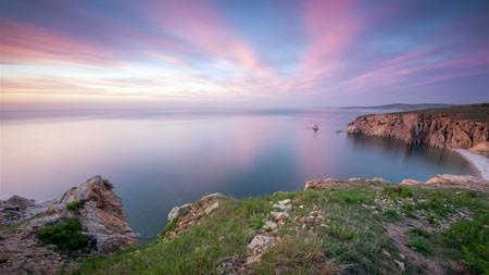 大连,海岸,日落,2021年,风景,5K HD,照片高端桌面精选 3840x2160