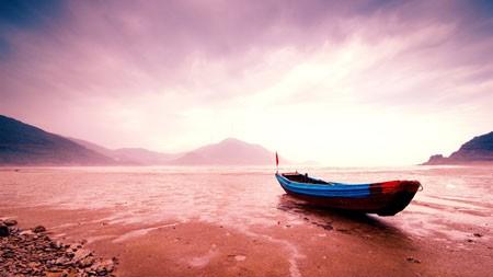 海滩,木船,日落,2022,自然,风景,照片高端桌面精选 3840x2160