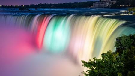 加拿大,多彩,尼亚加拉瀑布,4K,高清,照片高端桌面精选 3840x2160