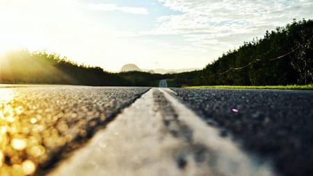 户外,旅行,路,阳光,地平线,特写高端桌面精选 3840x2160