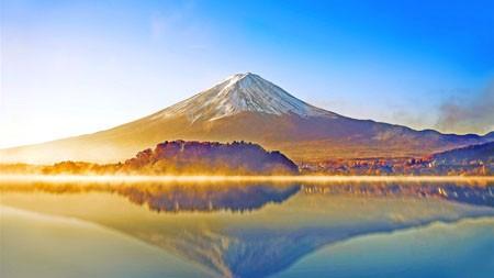 日本,富士山,清晨,阳光,雾高端桌面精选 3840x2160