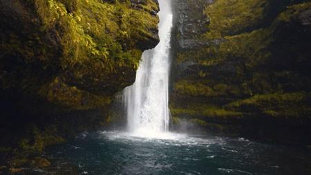 瀑布,悬崖苔藓,丛林,HDR,摄影高端桌面精选 3840x2160
