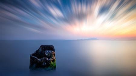 清晨,海洋天际线,2022,高清,自然,照片高端桌面精选 3840x2160