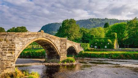 石拱桥,威尔士,英国,2022,自然风光,照片高端桌面精选 3840x2160