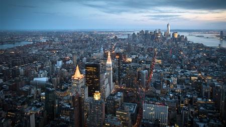 晚上,城市,高楼林立,灯光,4K,高清,桌面高端桌面精选 3840x2160