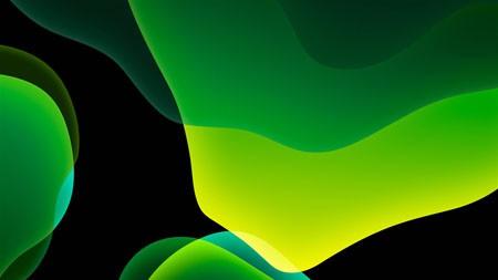 iOS 13,绿色,黑暗,WWDC,2022,抽象,设计高端桌面精选 3840x2160